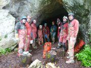 L'équipe topo à Saint-Brais 1