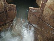 Le déversoir mesure le débit de la Milandrine amont depuis 1989